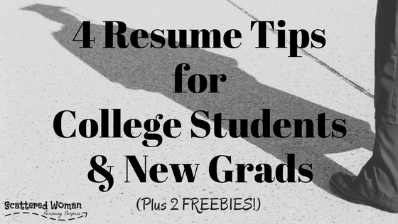 4 Best Resume Tips for New Grads