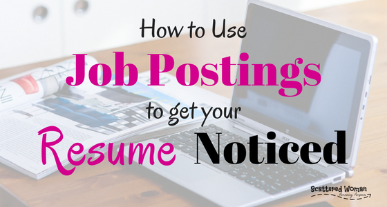 how to use job postings to get your resume noticed scattered woman