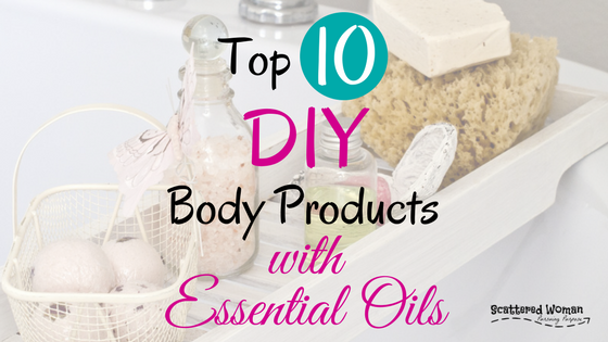 If you're serious about reducing toxic load, take a look at your favorite body products. Then, try my Top 10 DIY essential oil recipes for the body!