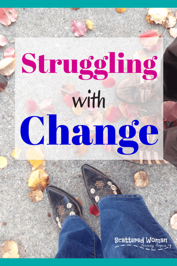 Do you struggle with change? So often we tend to forget to ask for help with life transitions -- even when God is right there waiting to help!